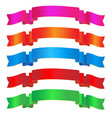 colorful sparkling ribbon vector image