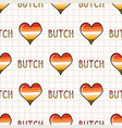 cute butch lesbian heart with text cartoon vector image vector image