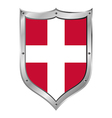Denmark flag button vector image vector image