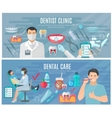 Dentist Banners Set vector image