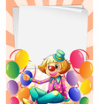 Empty bondpapers with a clown and balloons vector image vector image