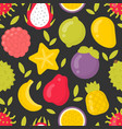 Exotic fruits seamless pattern on
