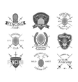 Fencing icons set vector image