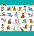 find one picture of a kind activity game vector image