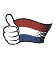 Flag of Holland - Flag Netherlands vector image
