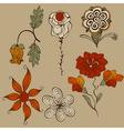 floral bizarre design elements vector image vector image