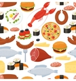 Food seamless pattern in flat style vector image vector image