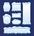 frozen ice frames vector image