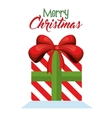 gift box christmas icon vector image