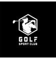 golf sport logo designs concept vector image vector image