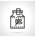 Herbal tincture black line icon vector image