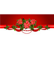 holiday red border vector image vector image