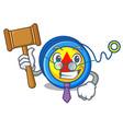 judge yoyo mascot cartoon style vector image vector image