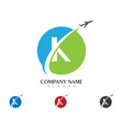 k letter logo business template vector image vector image