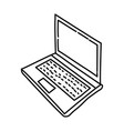 Laptop icon doodle hand drawn or outline icon