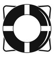 life buoy icon simple style vector image vector image