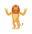 lion happy wild animal merry emoji joyful beast vector image vector image