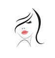 logo beautiful woman with long hair vector image