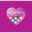 logo vitamins vector image vector image