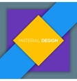 Modern unusual modern material design vector image