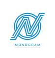 monogram n letter - concept logo template design vector image vector image