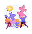 mutual assistance abstract concept vector image vector image