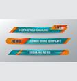 news headline banner vector image