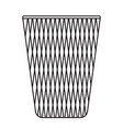 office waste bin without lid black and white icon vector image vector image