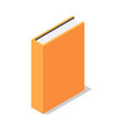 orange book stand vertical icon isometric style vector image vector image