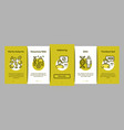 paternity test dna onboarding elements icons set vector image