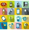 Phone flat icons vector image