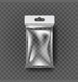 plastic pouch bag transparent pocket wrap vector image vector image