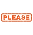 Please Rubber Stamp vector image vector image