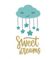 poster template for children s room with cute vector image