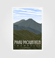 prau mountain camp vintage poster design outdoor vector image vector image