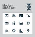 ramadan icons set with kaaba halal financial vector image vector image