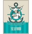 Retro seafood menu vector image vector image