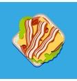 Sandwich top view vector image vector image