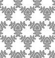 seamless geometric ornament carved vector image vector image