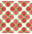 seamless pattern of color hand drawn watermelons vector image vector image