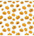 seamless white background with pumpkins vector image vector image