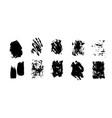 set artistic black grunge backgrounds vector image vector image