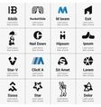 Set of Logo Designed vector image vector image