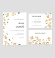 set of save the date card or wedding invitation vector image vector image
