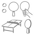 set of table tennis vector image
