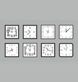 set white square wall clock vector image