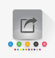 share icon sign symbol app in gray square shape vector image vector image