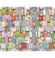 Smiling People Crowd Collective Portrait Seamless vector image vector image