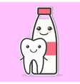 Tooth and milk are friends vector image