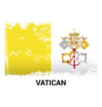 vatican flag design vector image